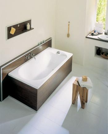 Nog een mooie witte bruine badkuip.